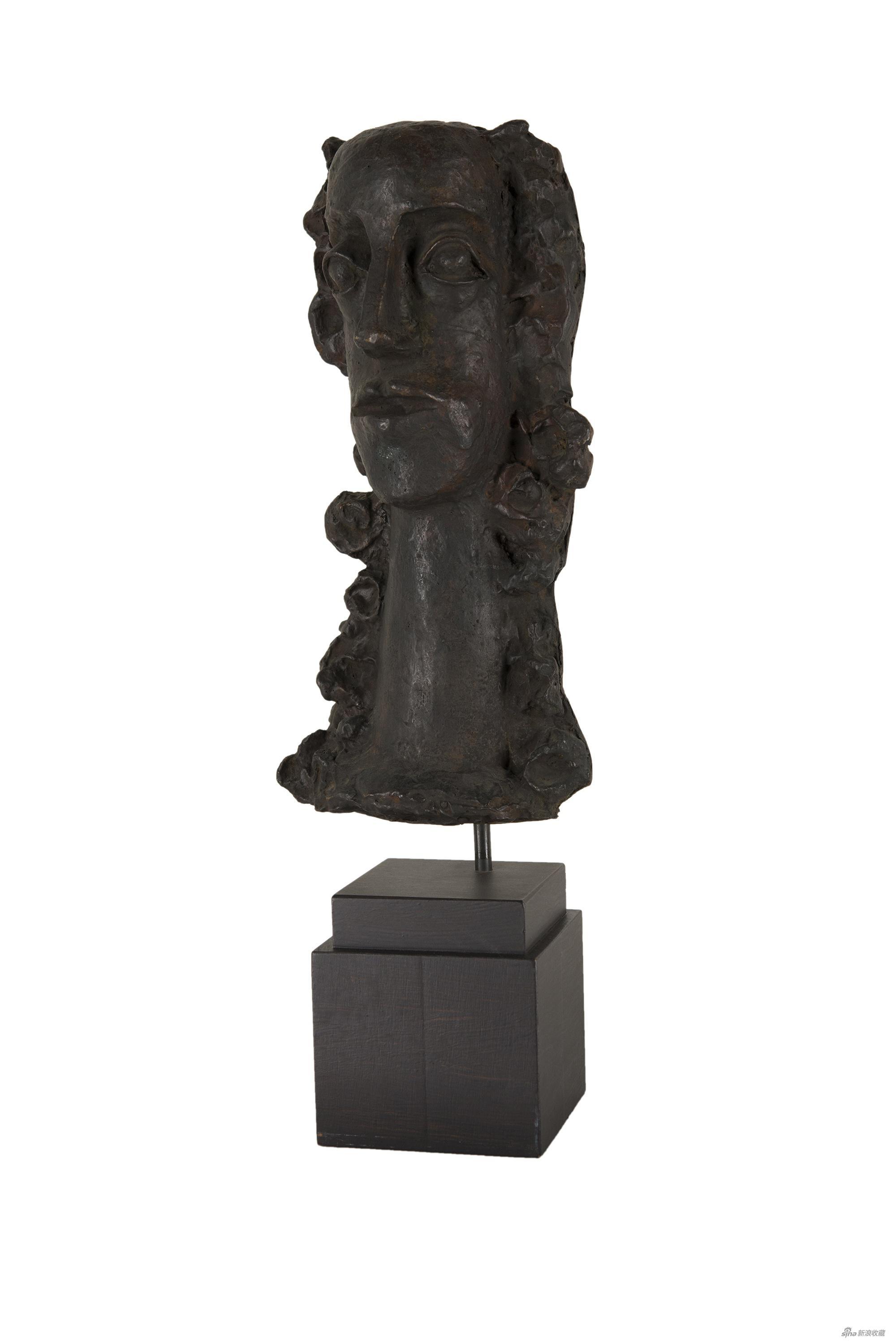 长发女人的胸像,安德烈·德朗,青铜雕塑,38.5×19×12cm,1938-1950年