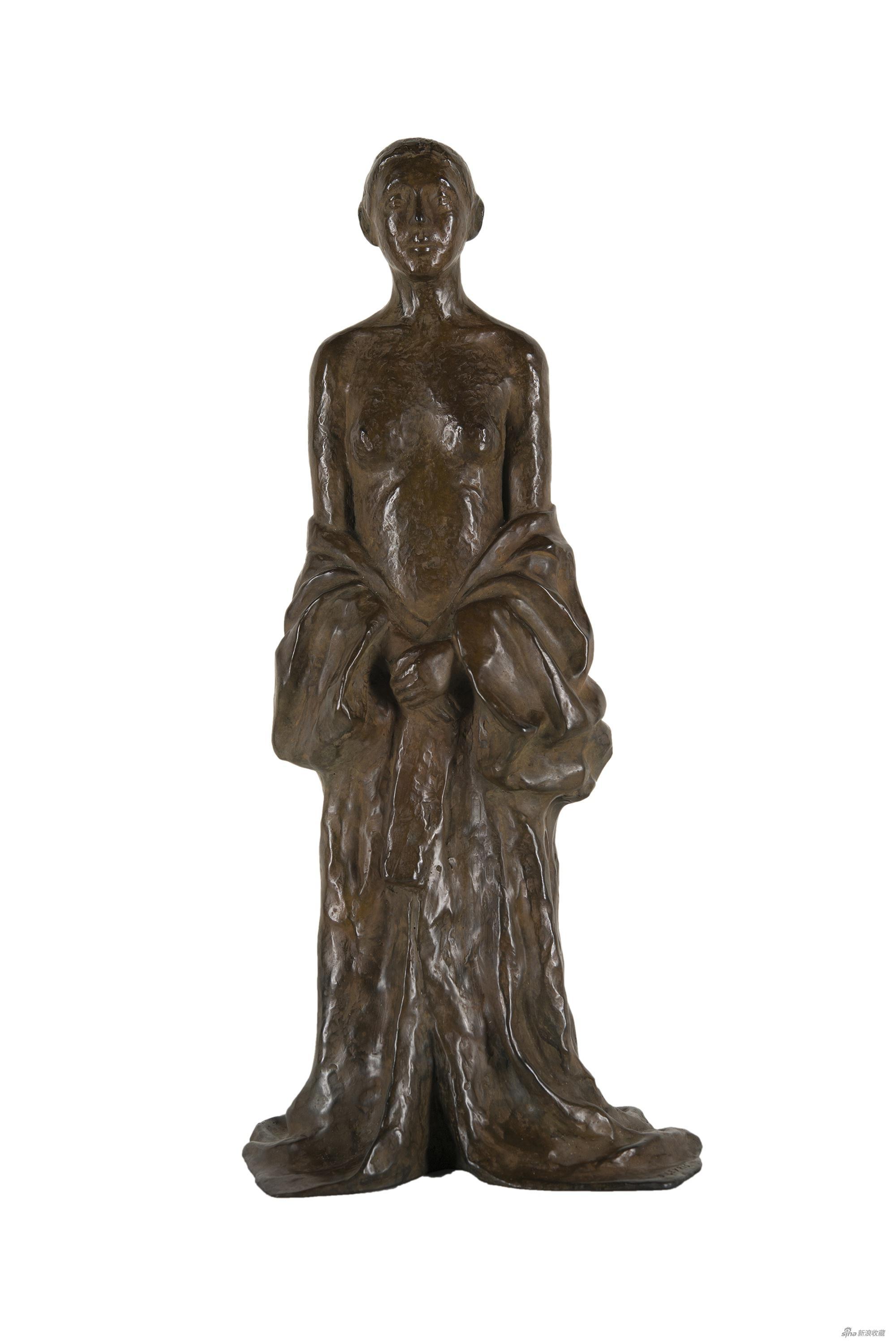 半裸的日本女人,让·莱利斯,青铜雕塑,56×26.5×21cm,2002年