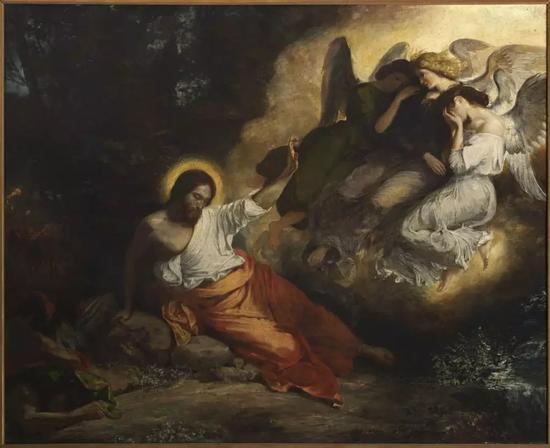 欧仁·德拉克洛瓦(1798-1863),《Le Christ au jardin des Oliviers》,Huile sur toile, 1827