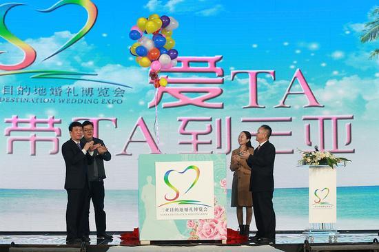 """会场气氛立即点燃,在氛围浓郁的""""浪漫礼盒""""气球放飞启动仪式后,本届婚图片"""
