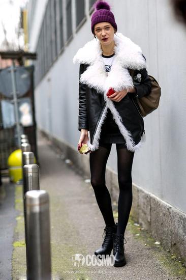 严冬怎能少羊羔绒外套