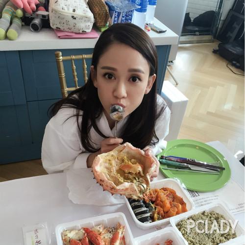 陈乔恩平日都会乖乖参考专业营养师提供的健康菜单料理一日三餐