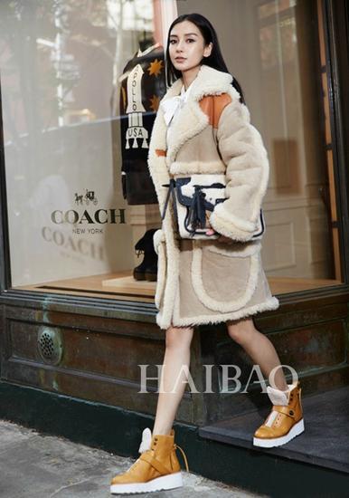 杨幂唐嫣飙好衣品 靠羊羔绒外套时髦保暖