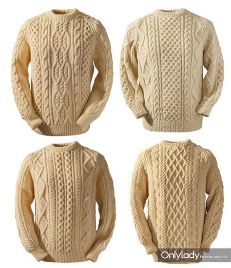 阿兰毛衣的纹路比较复杂