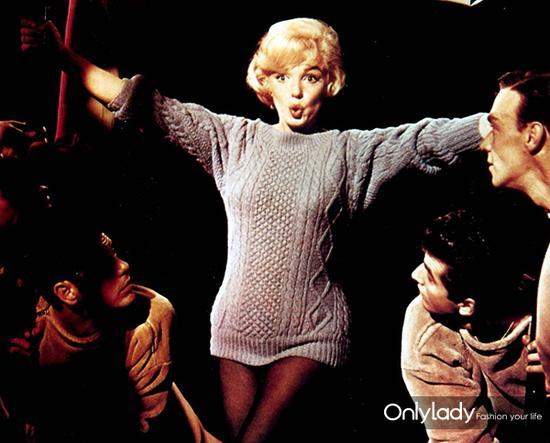 50、60年代梦露也赶了这个流行