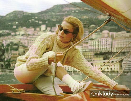 对阿兰毛衣有突出贡献的另一个人就是格蕾丝·凯利(Grace Kelly)