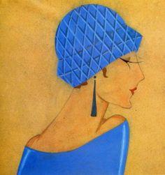 1920年代Lanvin品牌时装插画中出现的长耳环