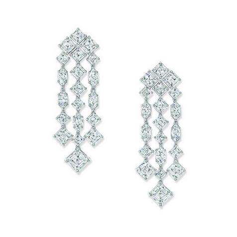 海瑞温斯顿绮隐Secrets 高级珠宝系列钻石耳环