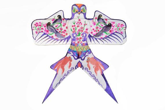 腊梅风筝手绘图片