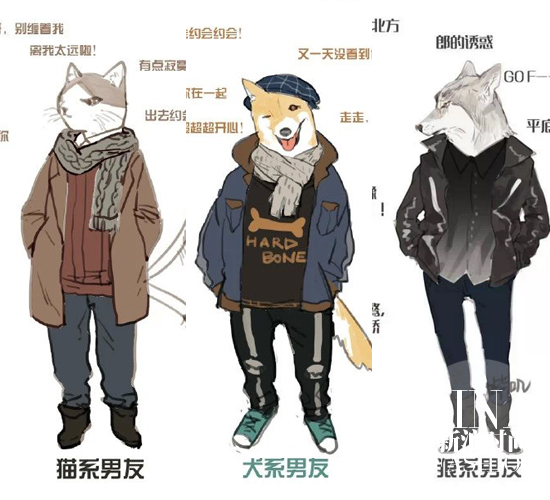 猫系,犬系和狼系