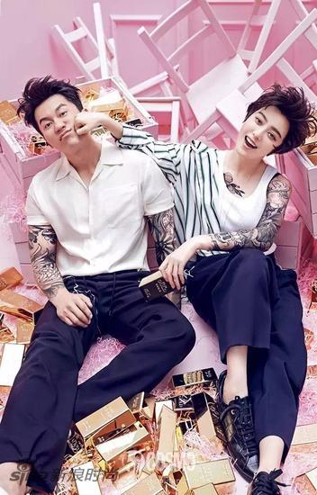 范冰冰与李晨携手登上《时尚COSMO》的情人节封面