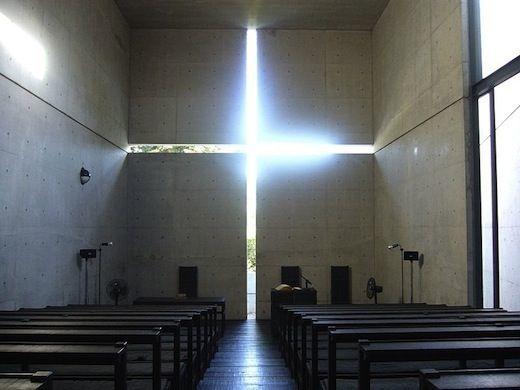 东京这座重建后的寺庙<wbr>用清水混凝土诠释神圣感