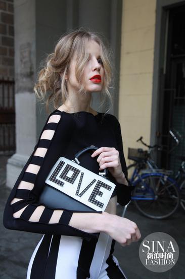 欧洲时尚模特黑白高清