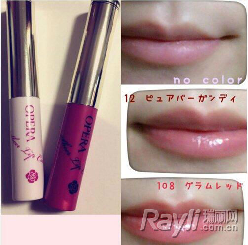 "OPERA""Sheer Lip Color""唇膏 1,200日圆,未含税"