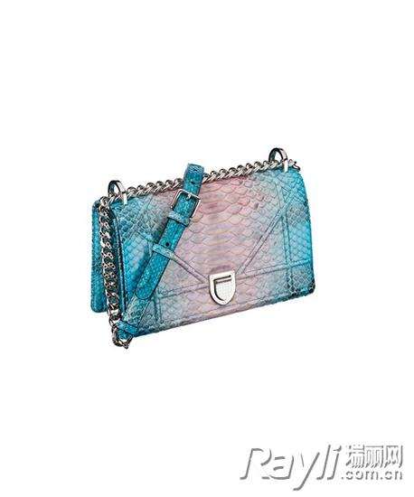 Dior多色蟒蛇皮Diorama手袋