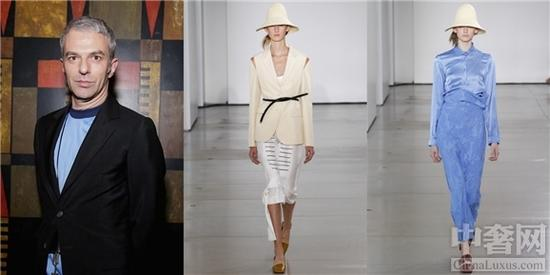 Rodolfo Paglialunga(左)及其設計的Jil Sander最新係列