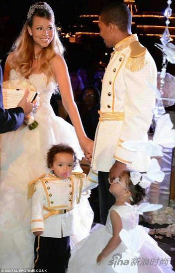 Mariah Carey与Nick Cannon和龙凤胎儿女