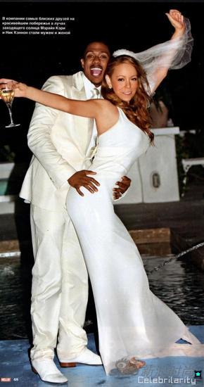2008年Mariah Carey与Nick Cannon在巴哈马群岛结婚