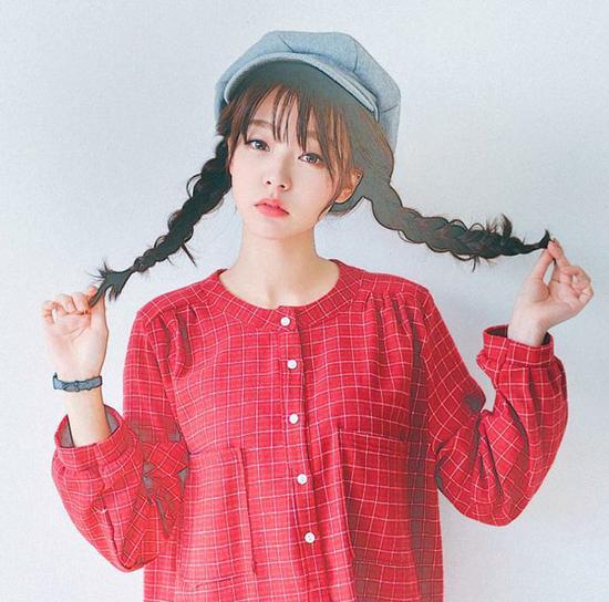 清新妹子:松柔发辫