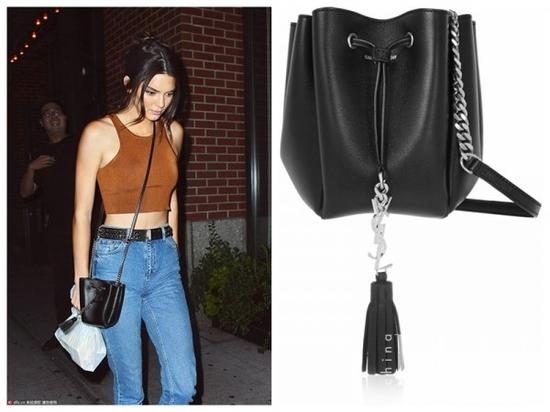 Saint Laurent Monogramme Bourse Mini Leather Bucket Bag $697