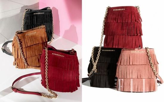 Burberry Fringed Suede Baby Bucket Bag $895