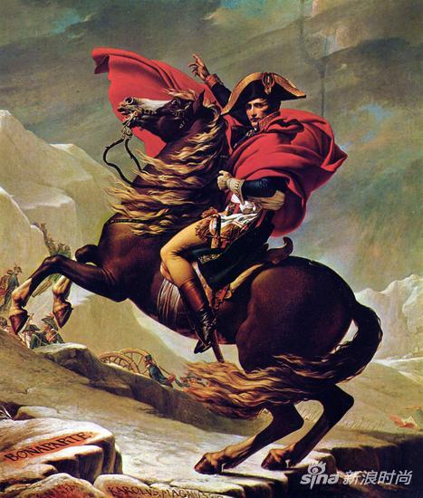 跨越阿尔卑斯山圣伯纳隘口的拿破仑