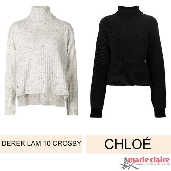 左:毛衣 DEREK LAM 10 CROSBY $793.63 右:毛衣 CHLOÉ $645.16