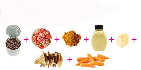 黑豆以及胡萝卜全麦玉米饼