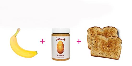 花生酱以及香蕉三明治