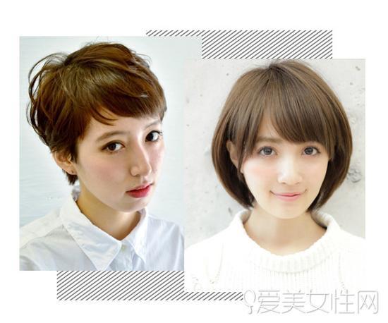 适合头发少女生的短发发型图片