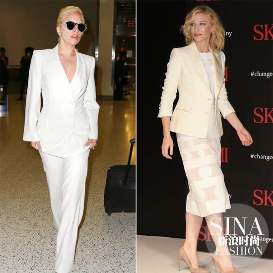 Gaga、凯特-布兰切特示范白西装的正确穿法