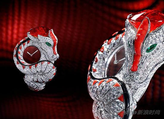 卡地亚Dragon Mystérieux蛟龙装饰神秘小时腕表
