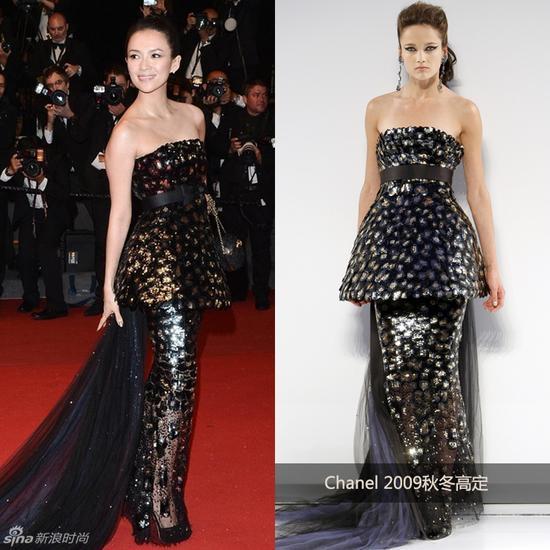 章子怡穿Chanel 2009高定