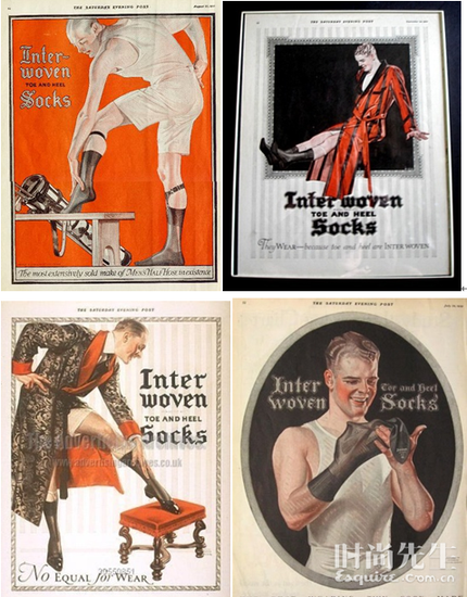 1927年,J. C. Leyendecker品牌男士丝袜广告