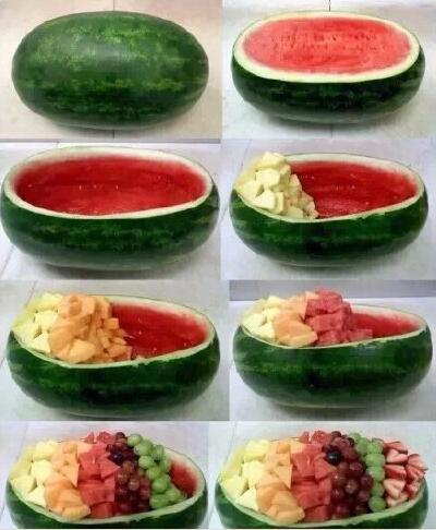 西瓜超级大大大水果拼盘-告诉你如何把西瓜吃出新高度