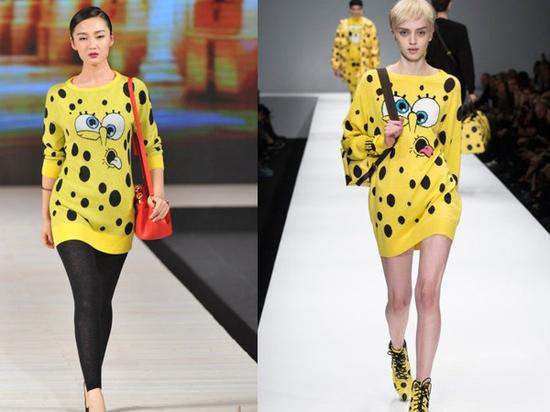 中国时装周惊现Moschino海绵宝宝同款