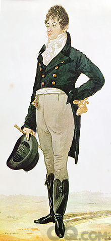 Dandy的始作俑者Beau Bruemmell,他是当时引导英国时尚的人物,每天花5小时穿衣打扮。