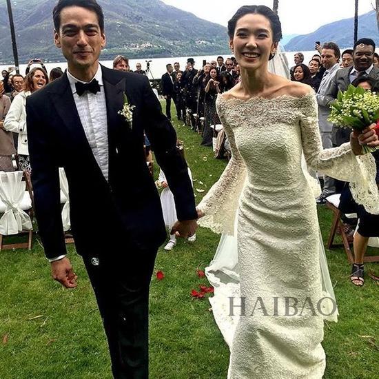 日本超模、女演员冈本多绪婚礼