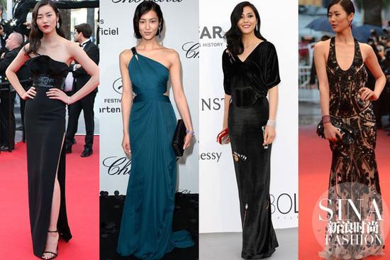 2015年超模刘雯亮相电影《小王子》首映红毯时图片