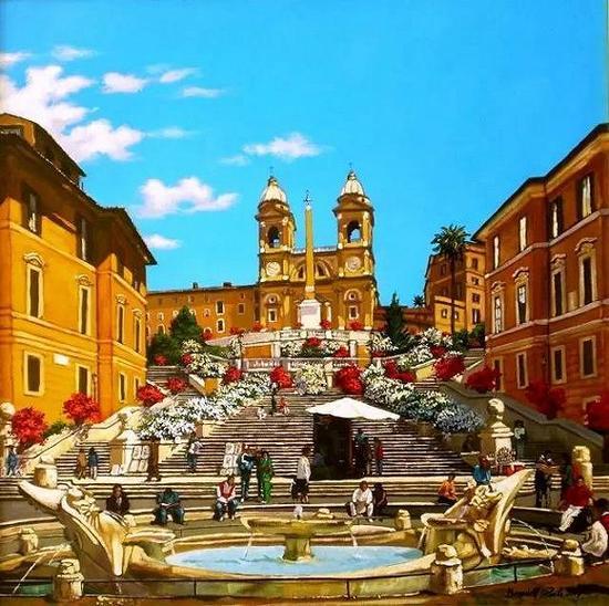 西班牙广场意大利·罗马