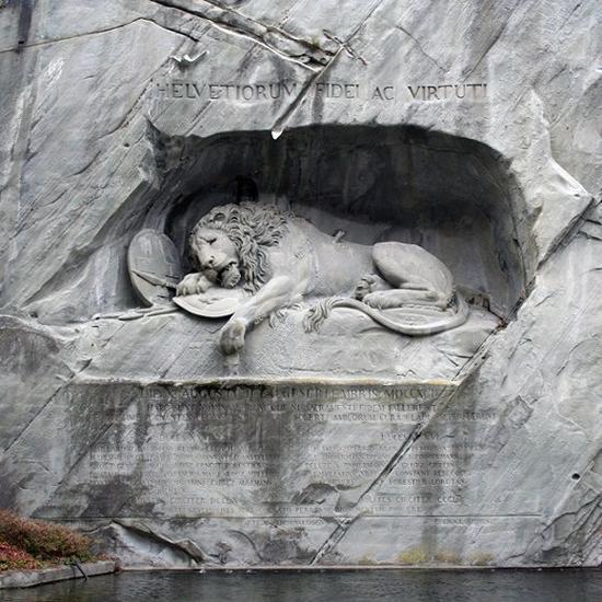 垂死的狮子瑞士·卢塞恩