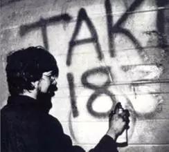 TAKI 183喷绘自己的名字
