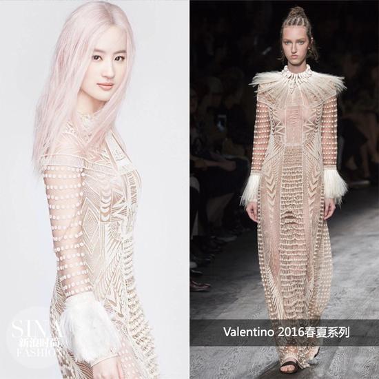 刘亦菲穿Valentino登杂志封面