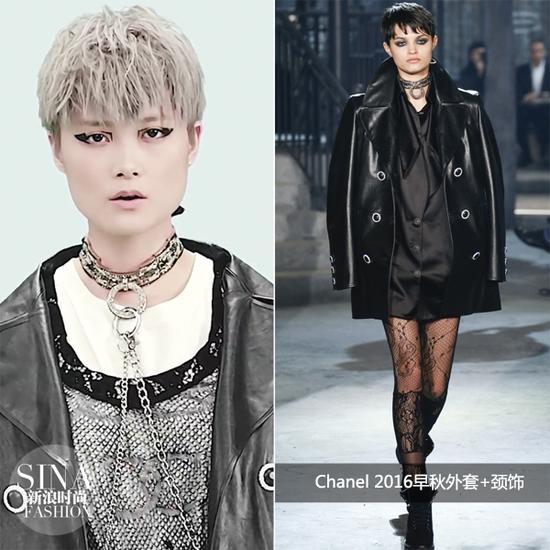 李宇春穿Chanel 2016早秋外套+颈饰