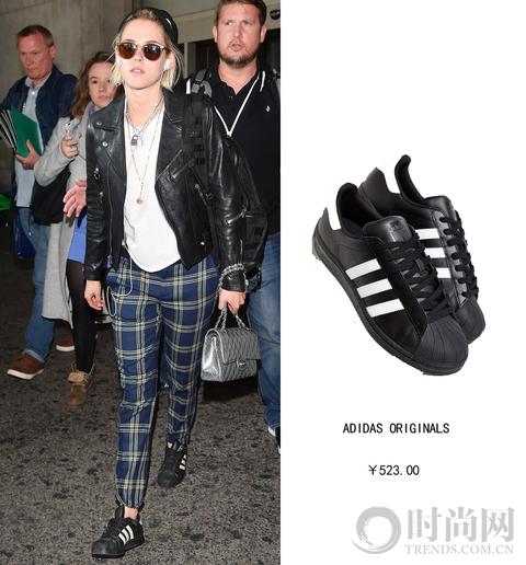 克里斯汀-斯图尔特穿Adidas运动鞋