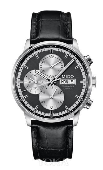 瑞士美度表指挥官系列多功能计时腕表,售价:14200元。