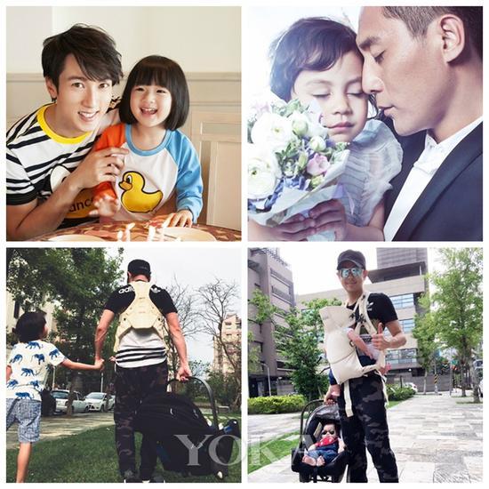 做了爸爸之后,人气更高的偶像们:吴尊、刘烨、林志颖。