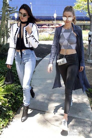 Gigi和肯豆街拍