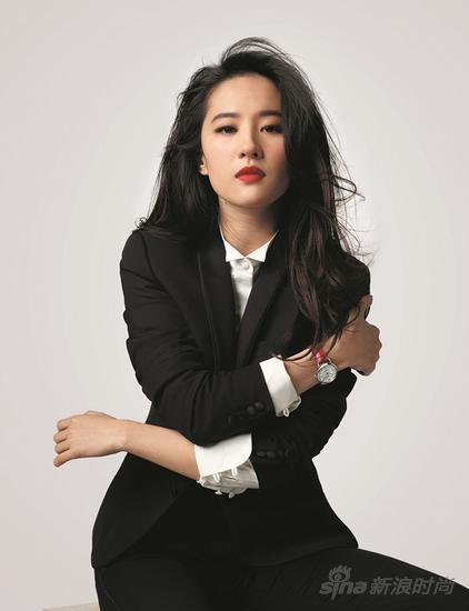 刘亦菲演绎天梭杜鲁尔系列红色表带款_副本