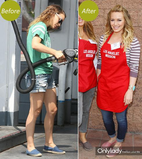 左:Natalie Portman 右:Hilary Duff